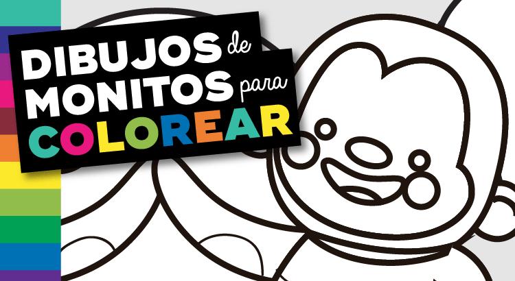 Dibujos de Monos para Colorear e Imprimir Infantiles